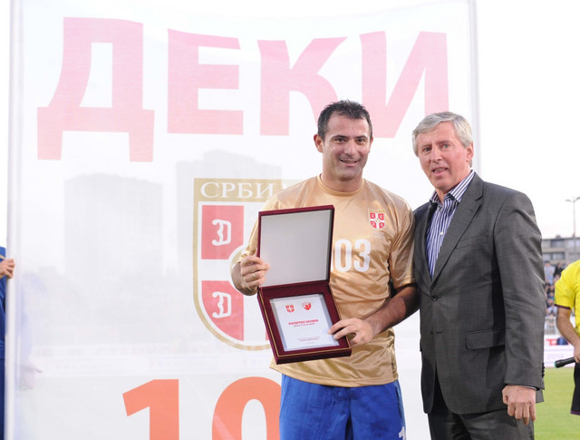 Dejan Stanković i njegov učitelj Vladimir Petrović Pižon