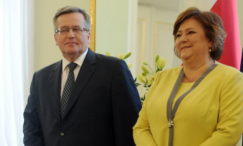 Bronisław i Anna Komorowscy.