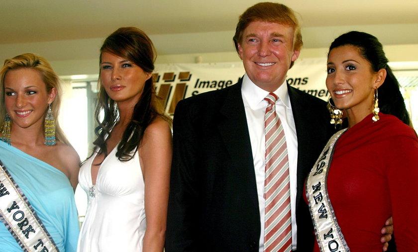 Donald Trump obok swojej późniejszej żony Melanii w 2004 roku