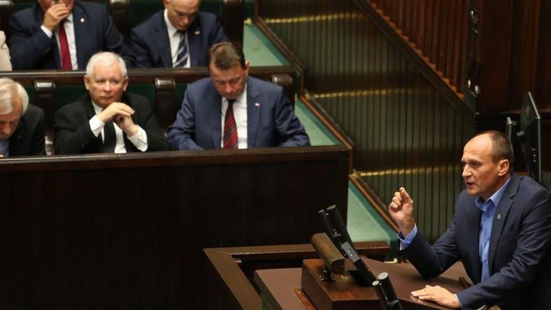 Jarosław Kaczyński i Paweł Kukiz w Sejmie