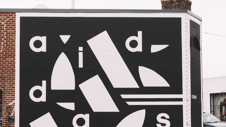 Adidas painted a mural on the side of the Adidas Brooklyn Creator Farm.