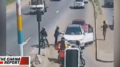 Achimota robbery: CCTV footage shows how armed robbers attacked woman at gunpoint