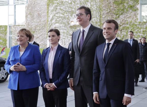Vučić sa Merkelovom, Makronom i Aniom Brnabić