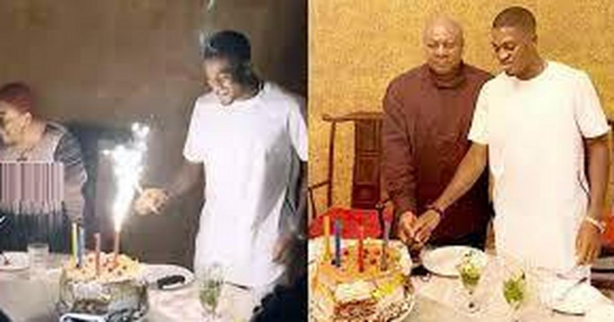 [Watch] How Former President Mahama celebrated his footballer son, Sharaf's birthday with a lavish party