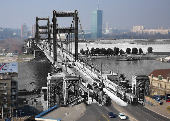 Most Kralja Aleksandra danas Brankov