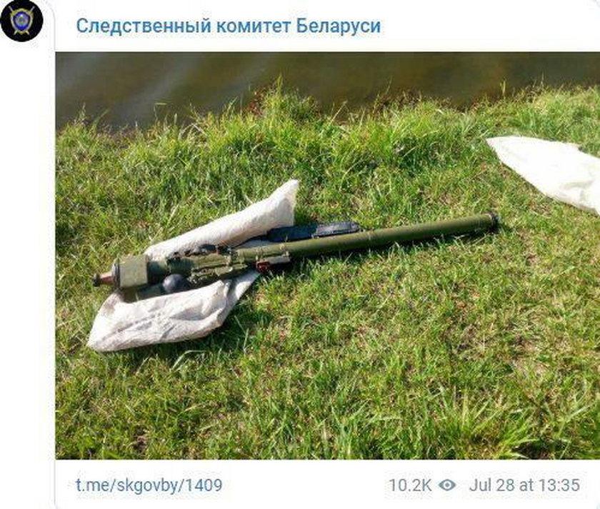 Wędkarz z Białorusi wyłowił wyrzutnię przeciwlotniczą