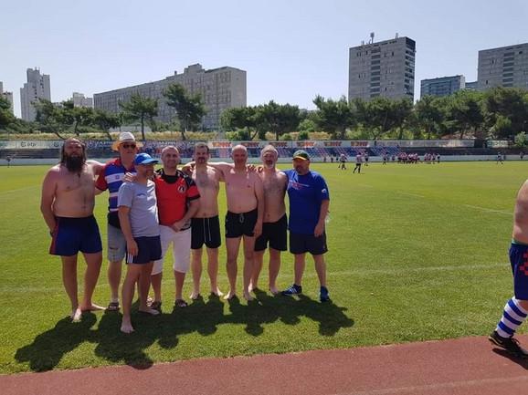 Veterani pančevačkog ragbi kluba Dinamo u Splitu