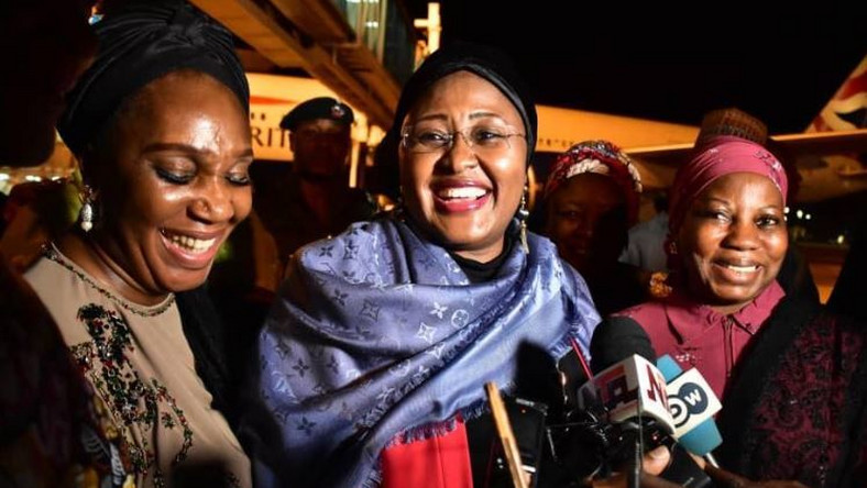 Mrs Aisha Buhari returns to Nigeria after a long holiday in the UK.