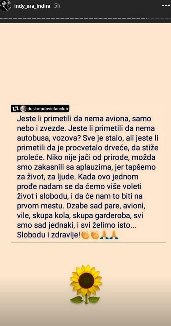 Indira Aradinović Indi - objava
