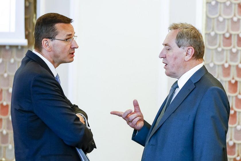 Henryk Kowalczyk i Mateusz Morawiecki