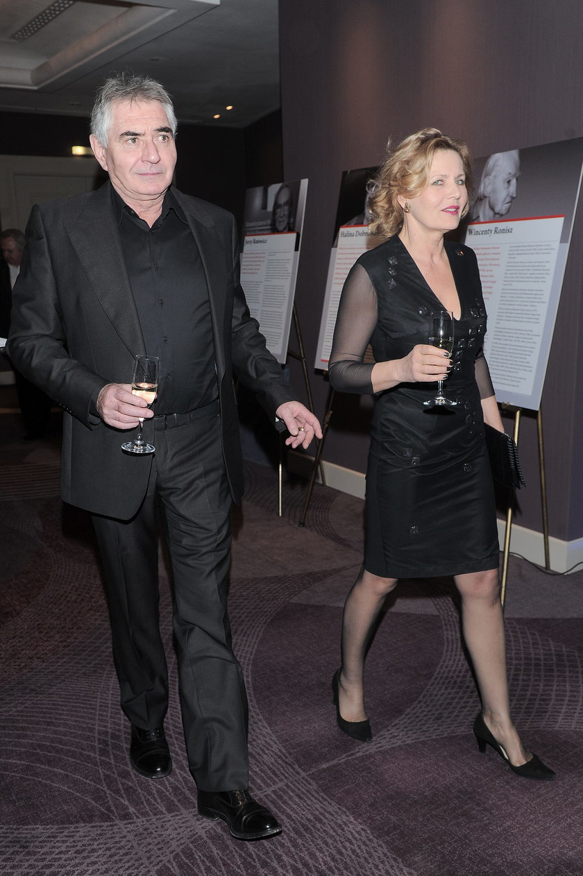 Eryk Stępniewski i Grażyna Szapołowska