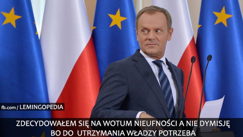 Jak Donald Tusk pastwi się nad opozycją? CZYTAJ WIĘCEJ>>> Joachim Brudziński o wotum zaufania dla Donalda Tuska: Sitwa się obroniła