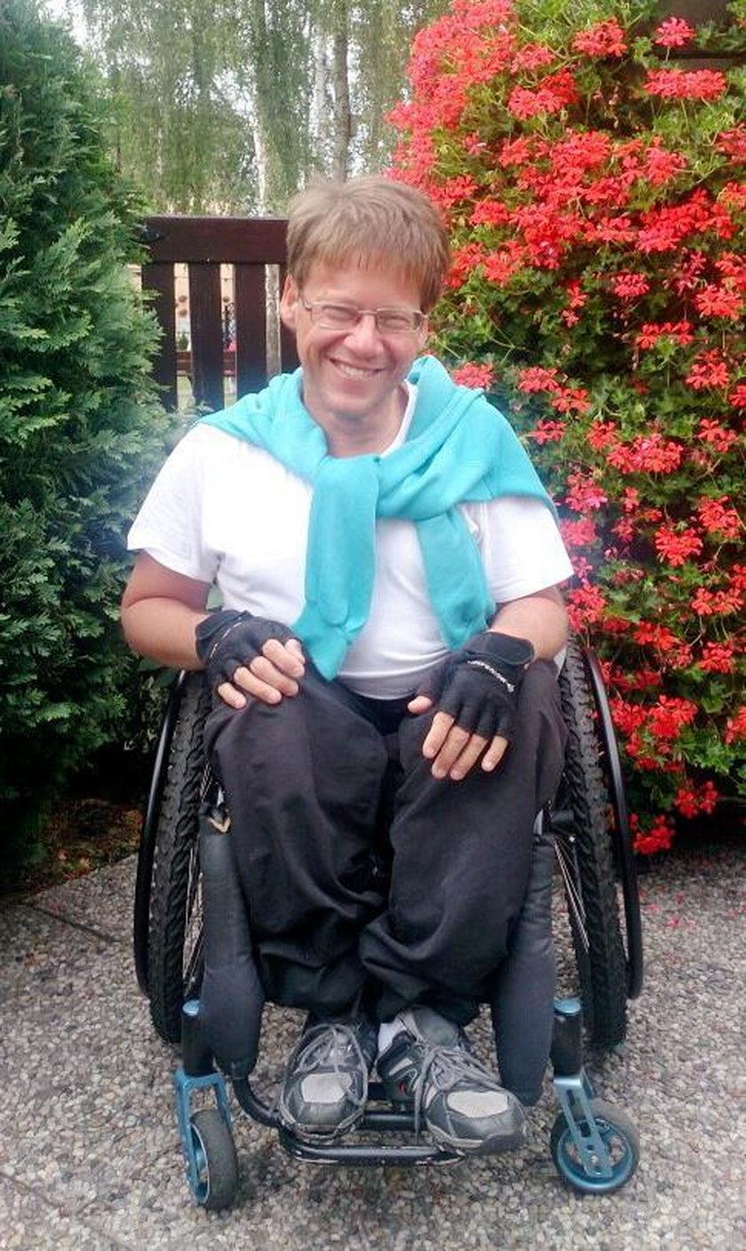 Niepełnosprawny Sebastian odzyskał skradziony wózek