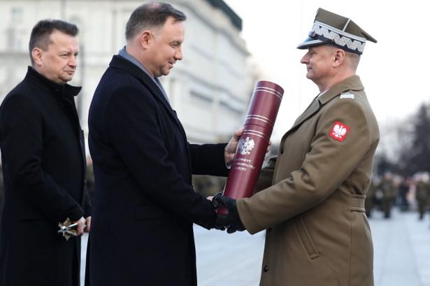 Andrzej Duda, Mariusz Błaszczak i gen. Arkadiusz Szkutnik