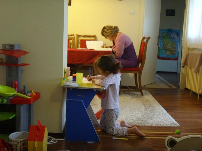 Kad mama sprema specijalistički ispit, Tašana Petrović sa ćerkom