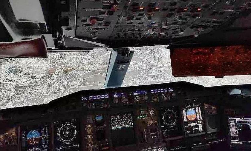 Zniszczony samolot