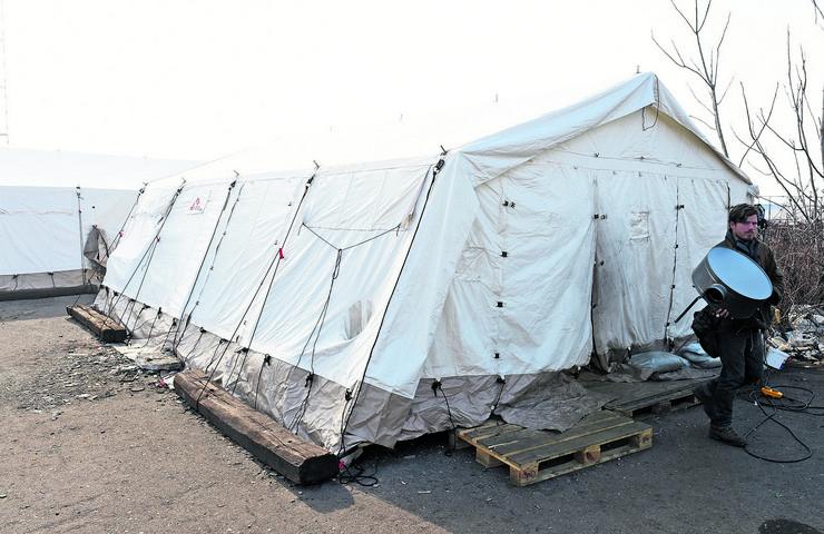 """Šatori za migrante """"Lekara bez granica"""""""