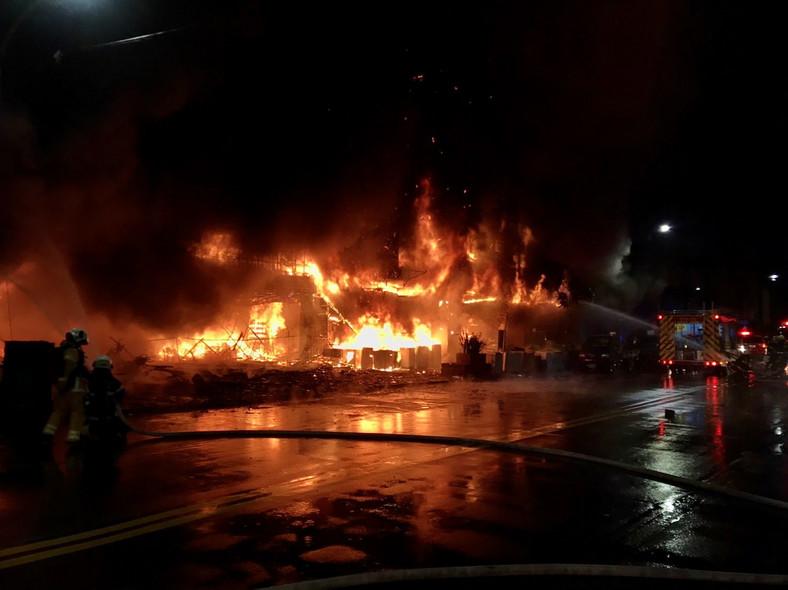 Pożar w Kaohsiung