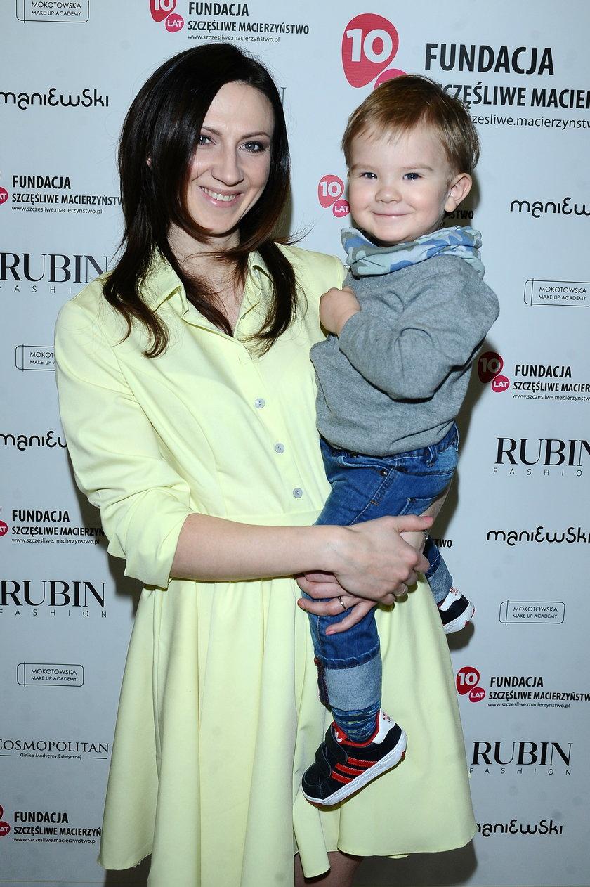 Monika Pyrek z synkiem