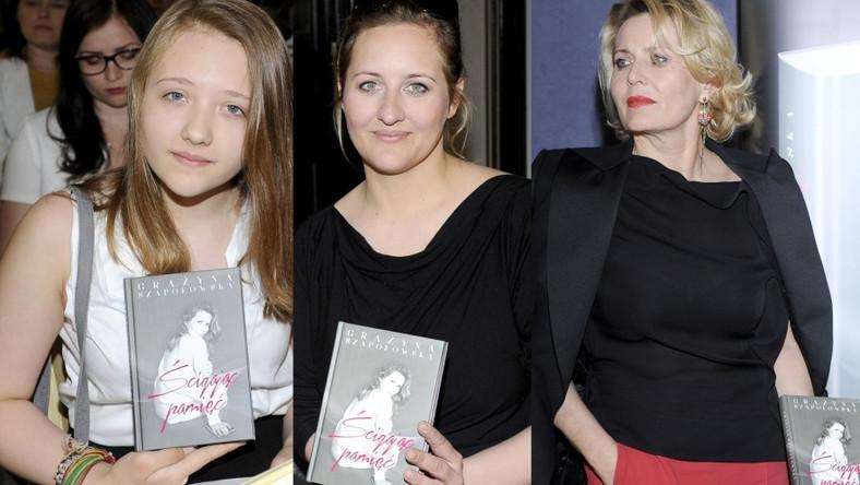 Na promocji spotkaniu autorskim Grażyny Szapołowskiej nie mogło zabraknąć jej córki i wnuczki