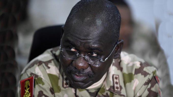 Outgone Chief of Army Staff (COAS), Lt-Gen. Tukur Buratai (AFP)