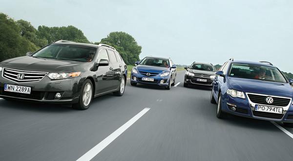 Citroën C5, Honda Accord, Mazda 6 i VW Passat – porównanie