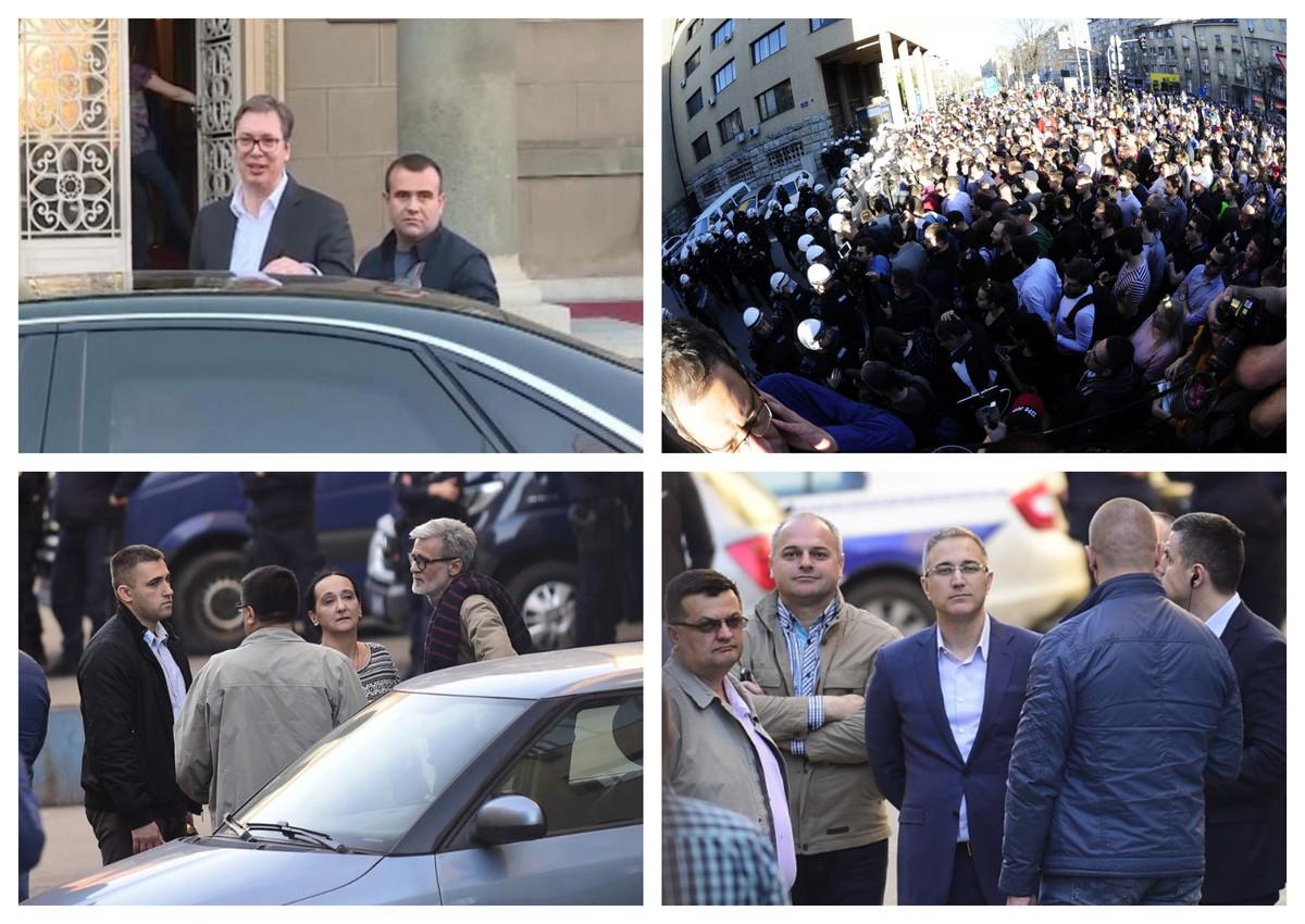 PROTESTI U BEOGRADU Demonstranti satima blokirali Predsednistvo i stanicu policije 29. novembar , traže oslobađanje uhapšenih VIDEO, FOTO