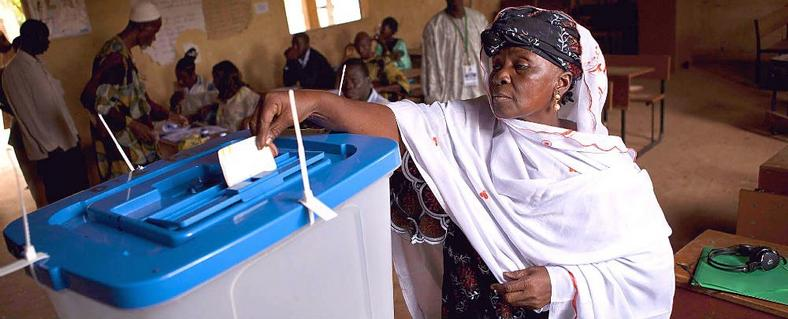 A Malian woman votes in the 2013 election