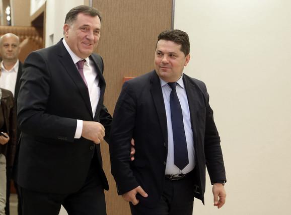 Milorad Dodik i Nenad Stevandić