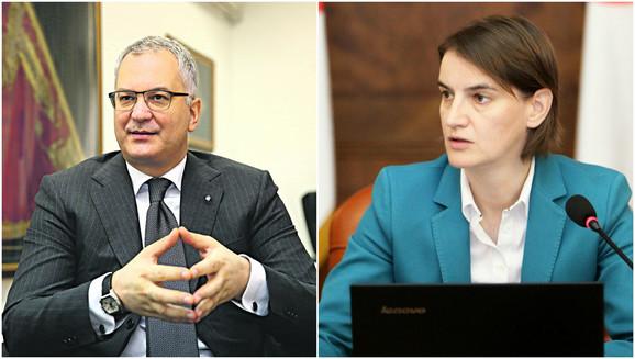 Dragan Šutanovac i Ana Brnabić