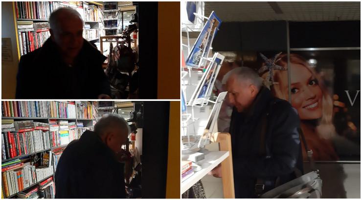 Željko Obradović u knjižari