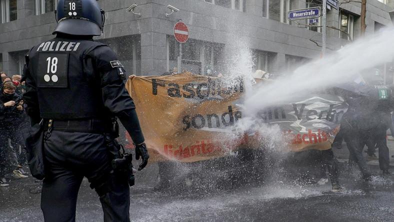Protest we Frankfurcie nad Menem