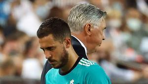 Real Madrid's Eden Hazard started and stayed on the bench in the win over Barcelona on Sunday Creator: JOSE JORDAN