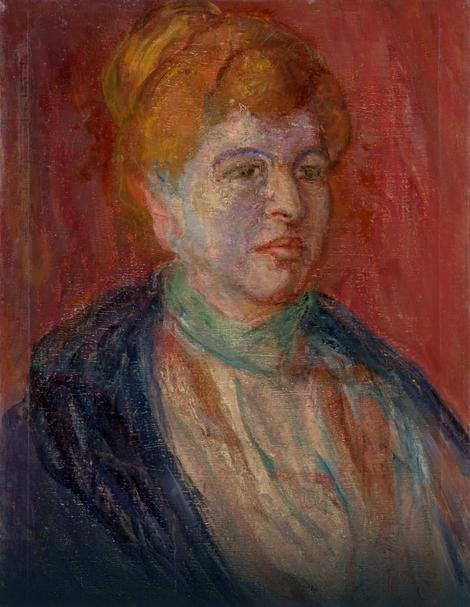 """Ivan Grohar """"Nadežda Petrović"""", ovo platno je u Narodnom muzeju zavedeno kao poklon"""
