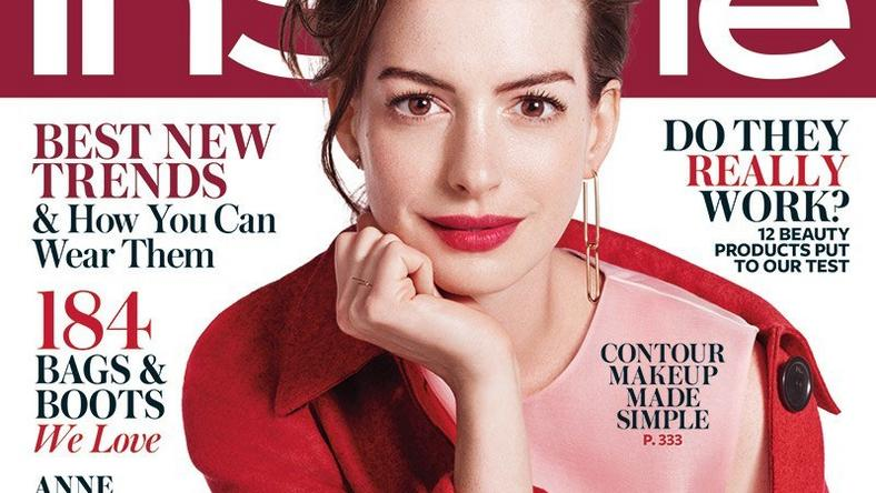 Anne Hathaway covers InStyle Magazine September 2015 issue