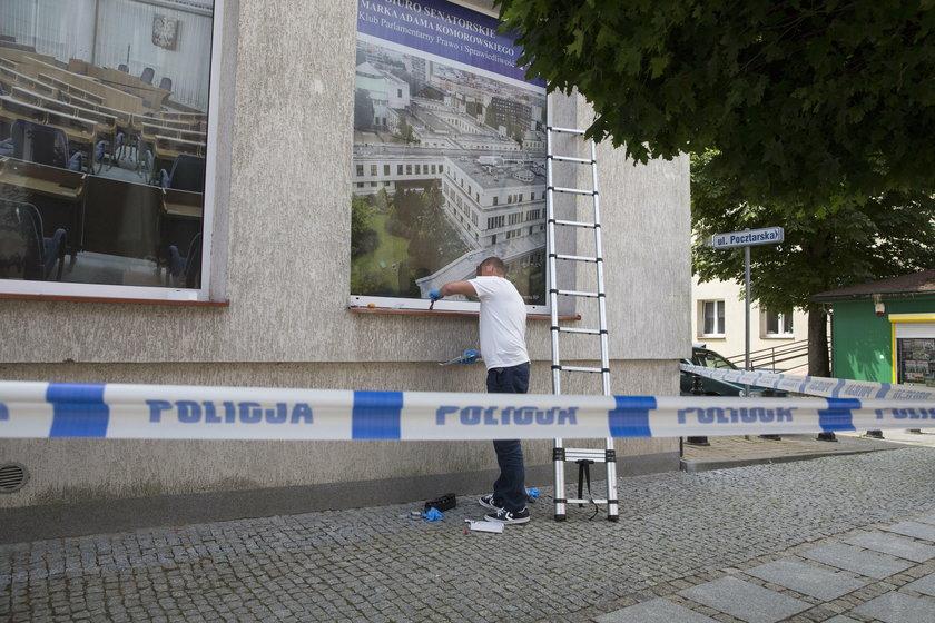 Atak na biuro senatora PiS w Łomży