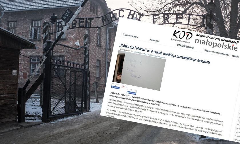 Atak na przewodnika po Auschwitz