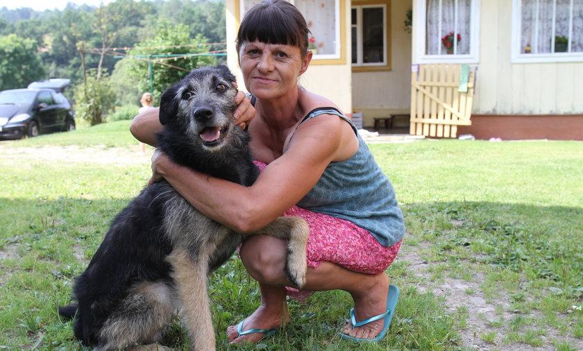 Barbarę Ilnicką uratował jej pies Burek