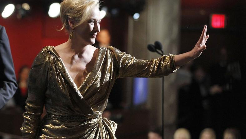 Meryl Streep ze swoim trzecim w karierze Oscarem