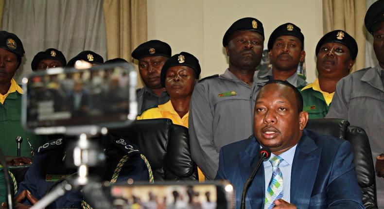 Governor Mike Sonko when he lifted the matatu CBD ban