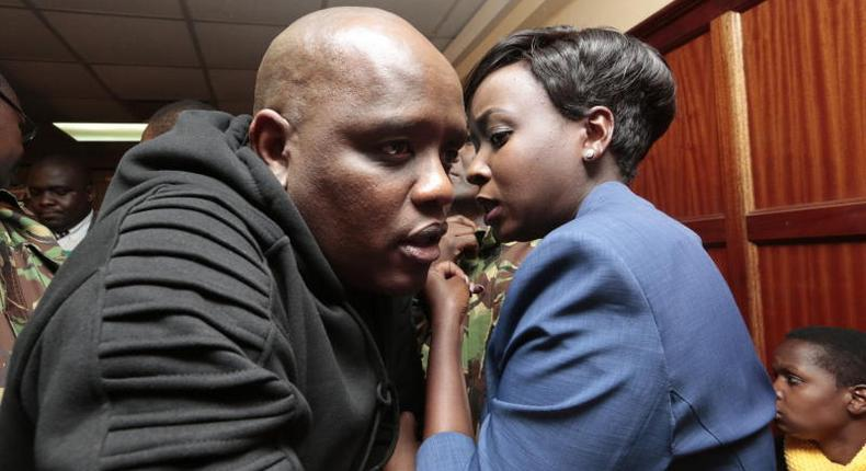 Dennis Itumbi's special poem to Maribe as she returns to court today. (Courtesy)