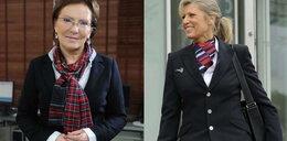 Minister jak stewardessa. FOTO