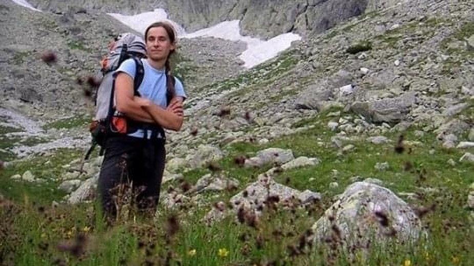 Renata Kałuża w Tatrach