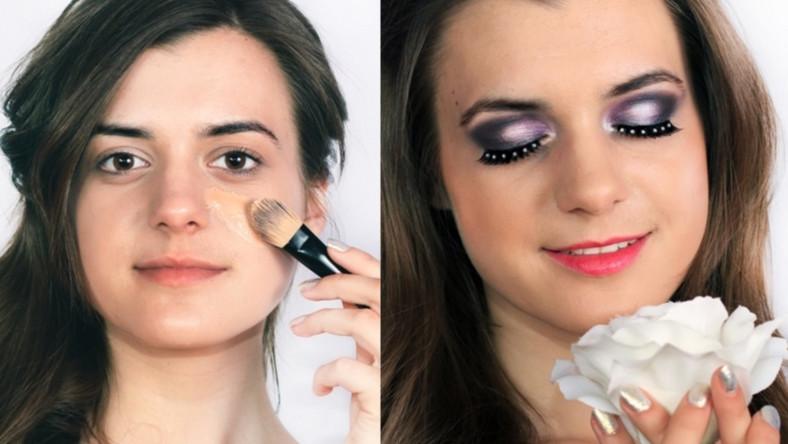 Makijaż ślubny Golden Rose dla brunetki krok po kroku