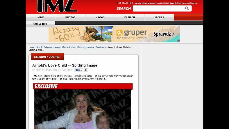 Zdjęcie kochanki Arnolda Schwarzeneggera i jego syna, opublikowane przez tmz.com