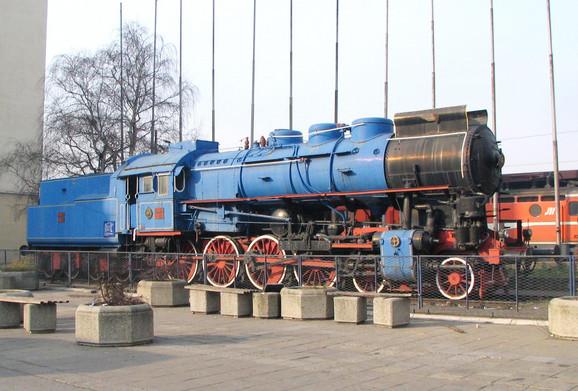Eksponat koji podseća na socijalistička vremena - lokomotiva Titovog Plavog voza