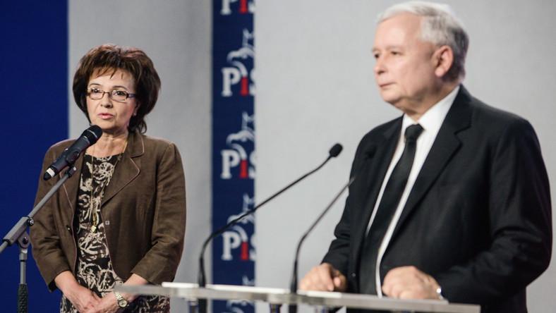 Elżbieta Witek i Jarosław Kaczyński