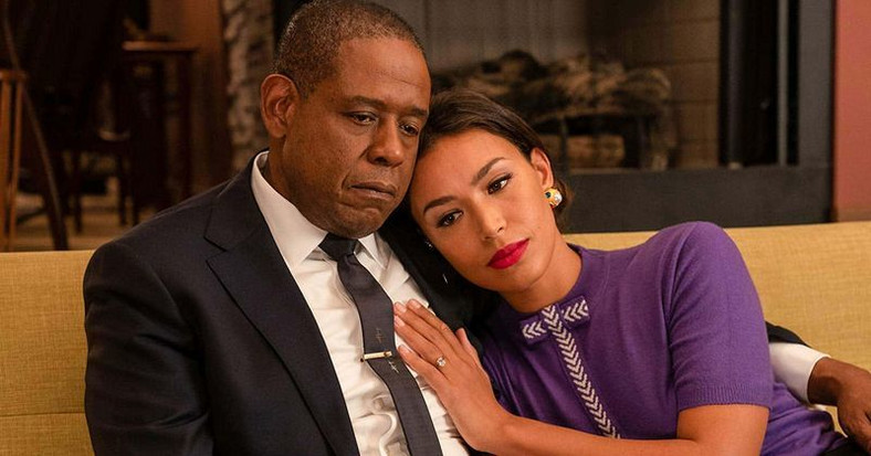 Forest Whitaker (Bumpy Johnson} and Ilfenesh Hadera who played his wife (Mayme Johnson) in 'Godfather of Harlem'
