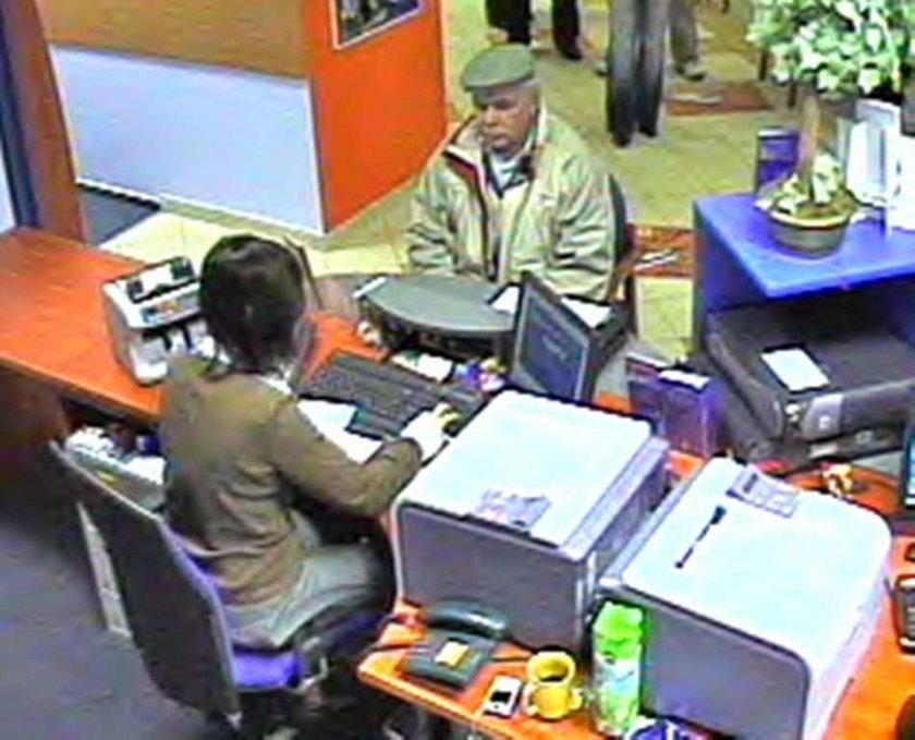 Oto bankowy oszust! FOTO