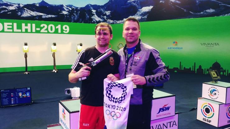 Damir Mikec sa trenerom i bratom Goranom